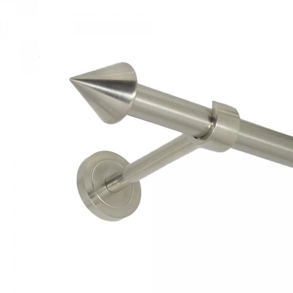 Edelstahl Gardinenstnge Endspitze 20 mm einläufig