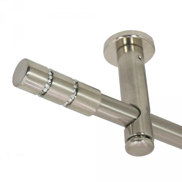 Gardinenstange Kristall, Deckenbefestigung, 16 mm, einläufig