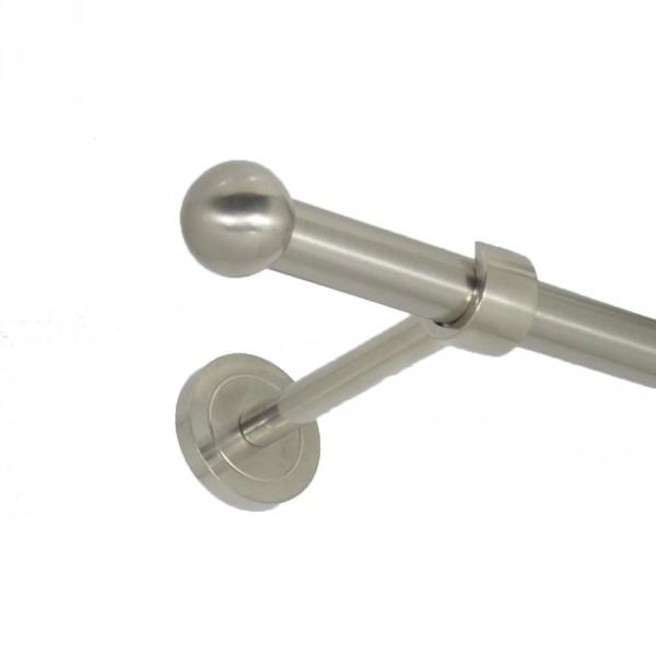 Edelstahl Gardinenstnge Endkugel 20 mm einläufig