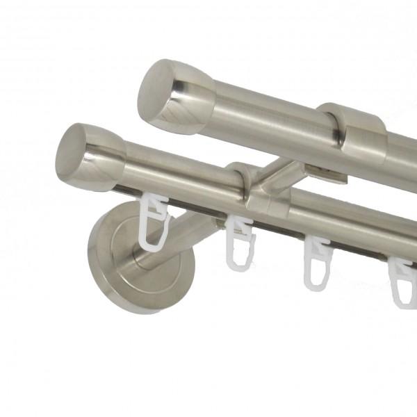 Edelstahl Gardinenstange Endkappe 20mm zweiläufig