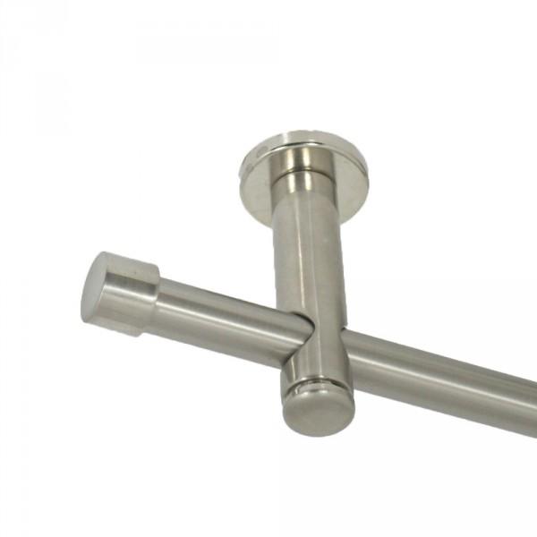 Gardinenstange Deckenmontage mit Endkappen, 16 mm, einläufig