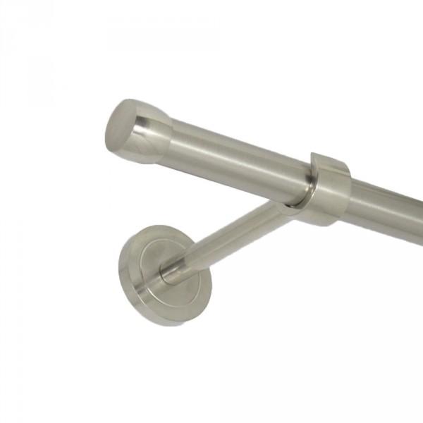 Edelstahl Gardinenstnge Endkappe 20 mm einläufig