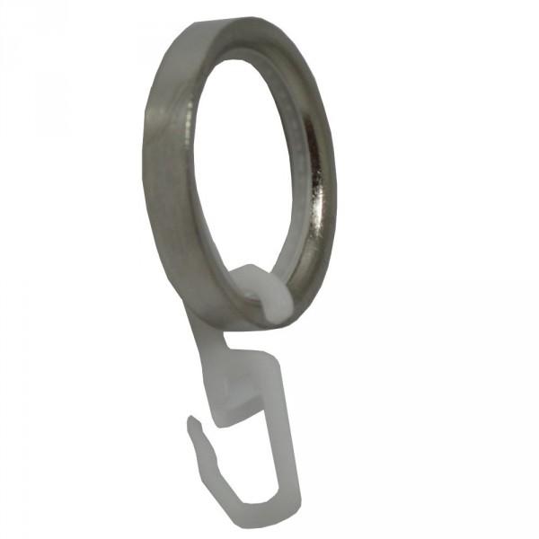 10 Ringe aus Edelstahl mit Gleiteinlage aus Nylon für 20 mm Rohre