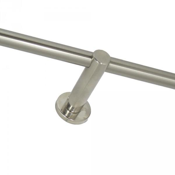 Gardinenstangen Halter, einläufig, für 16 mm Rohre.