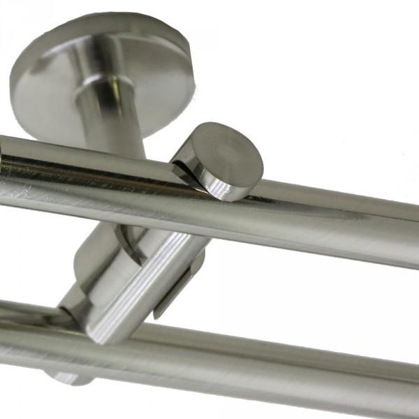 Zweiläufiger Deckenträger für 16 mm Rohre.