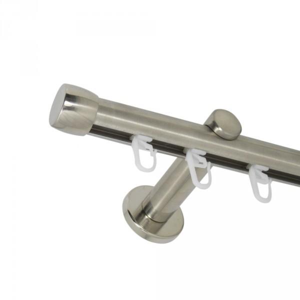 Gardinenstange Innenlauf 20 mm mit Endkappen einläufig