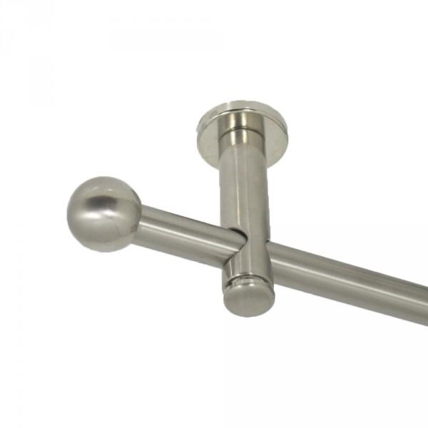 Gardinenstange Kugel, Deckenbefestigung, 16 mm, einläufig