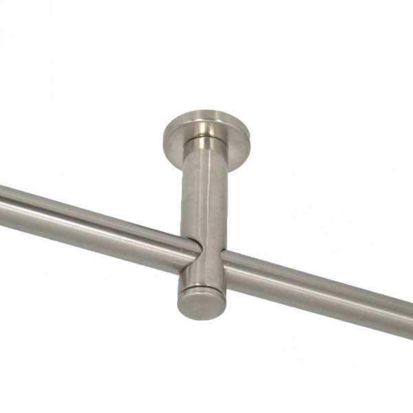 Einläufiger Deckenträger für 16 mm Rohre.