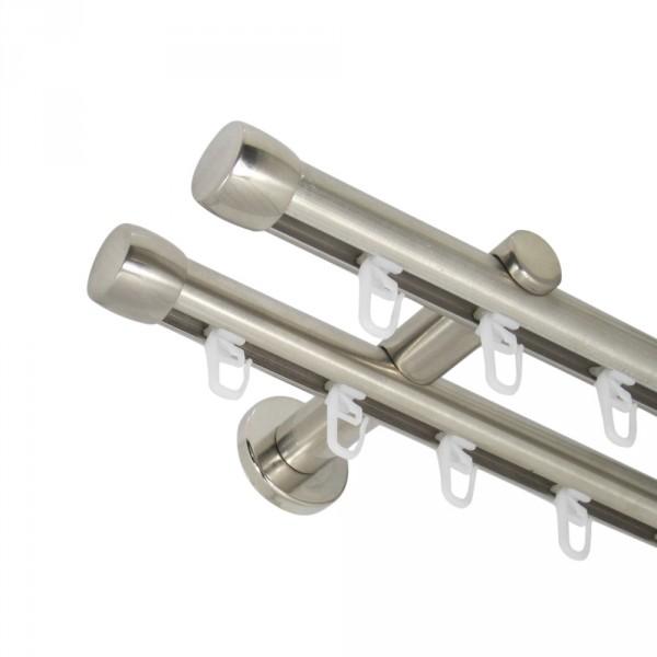 Innenlauf Gardinenstange 20 mm mit Endkappen zweiläufig